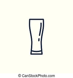 Linear icon of a glass of beer