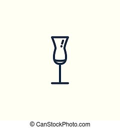 Linear icon of a glass of cocktail