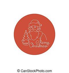 Linear Icon Santa Claus