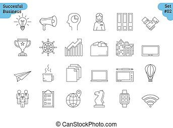 Linear icon set 2 - BUSINESS