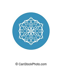 Linear Icon Snowflake ,Christmas Decoration