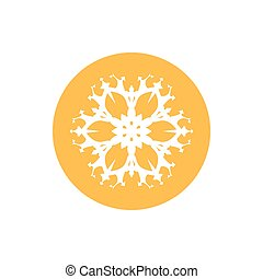 Linear Icon Snowflake ,Merry Christmas