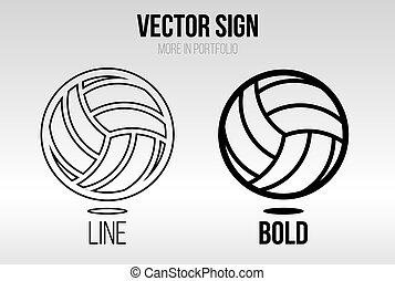 Linear icon vector set, line and bold style
