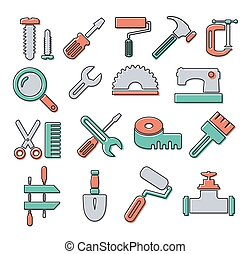 Linear icons  tools