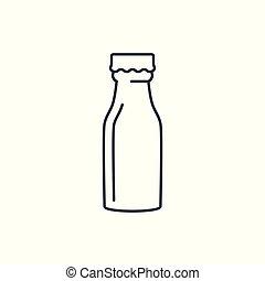 Linear milk bottle icon