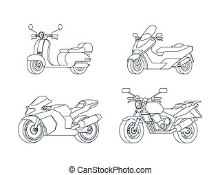 Linear Motorcycles Set