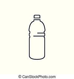 Linear plastic bottle icon