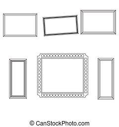 linear, quadro, jogo, fo, quadro, foto, desenho