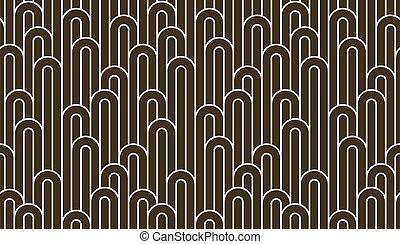 Linear seamless background with twisted lines, vector abstract geometric pattern, stripy weaving, optical maze, web network.