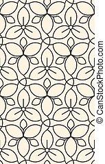 Linear seamless flower pattern