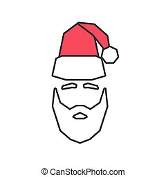 Linear silhouette of Santa Claus.