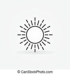 linear, sol, logotipo