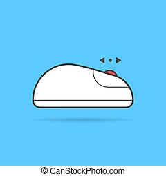 linear up and down scroll white computer mouse icon