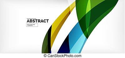 Linear wave web template. Vector illustration bright design...