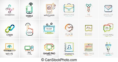 Linear web icons