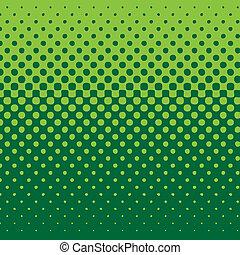 lineare, halftone, tono, fondo, verde