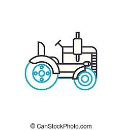 lineare, magro, illustrazione, segno, simbolo, rullo, colpo, vettore, icon., linea, concept., strada, contorno