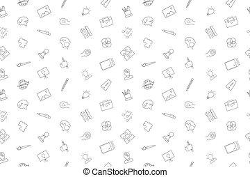 linearny, pattern., twórczość, wektor, tło, kreska, icon.
