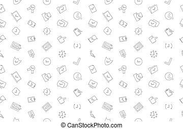 linearny, pattern., wektor, tło, kreska, aprobować, icon.