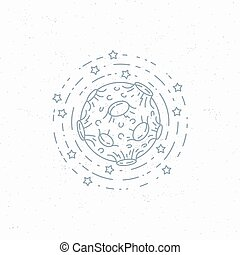 Lineart moon symbol