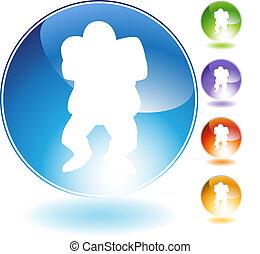 Linebacker Football Crystal Icon