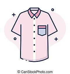 linecolor, mężczyźni, koszula, ilustracja