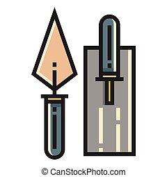 linecolor, truelle, illustration