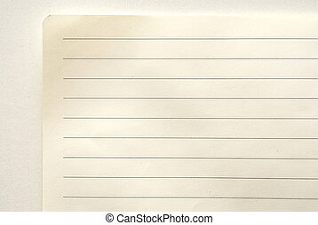 lined notebook paper