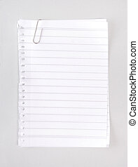 *Lined Notebook Paper with Clip*