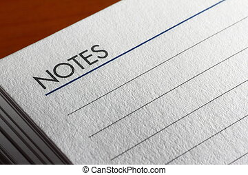 Lined pad paper with Notes written at the top