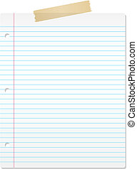 Lined paper - Background of lined paper