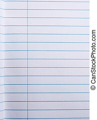 Lined paper in notebook