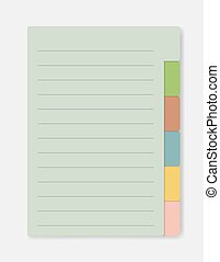 lined notebook pages template with cartoon insects isolated vector