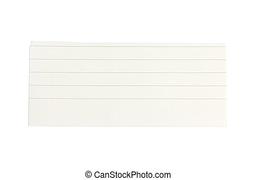Lined paper scrap isolated on white