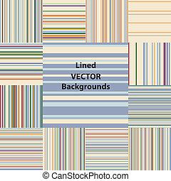 lined patterns set