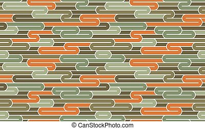 Lined seamless vector pattern with twisted lines, geometric abstract background, stripy net, optical maze, web network.