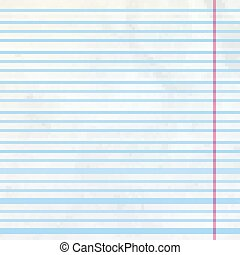 Lined sheet of notepad. EPS 10