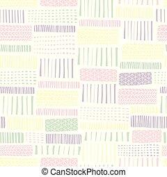 linee, scarabocchiare, infinito, bianco, pattern., seamless...