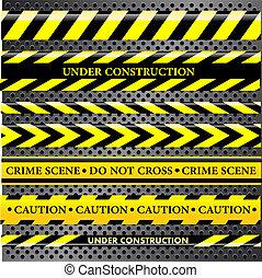 linee, set, polizia, pericolo