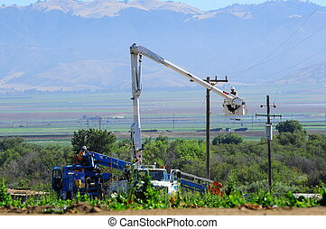 lineman working on power line