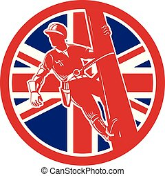 lineman_climbingwormview_CIRC_UK-FLAG-ICON - Icon retro...