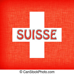 Linen flag of Switzerland