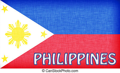 Linen flag of the Philippines