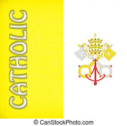 Linen flag of Vatican City