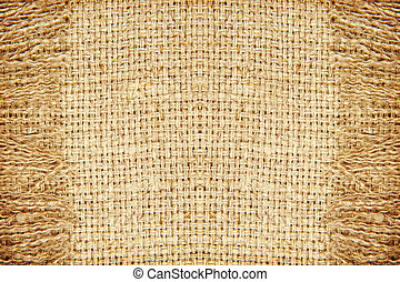 Linen texture pattern with fringe.Abstract background.