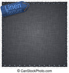 Linen texture with jeans label. - Vector illustration of...