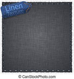 Vector illustration of grey realistic linen texture.