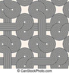 lines., 幾何學, 有條紋, 摘要, 交織, pattern., seamless, vector.