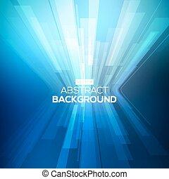lines., 抽象的, 青, 幾何学的, 背景, 見通し, バックグラウンド。, 3d