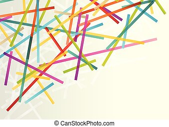 Lines abstract vector background transparent concept with copy space